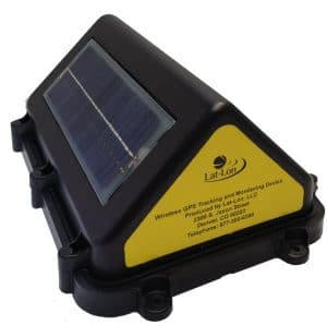 Solar powered GPS device with impact detection