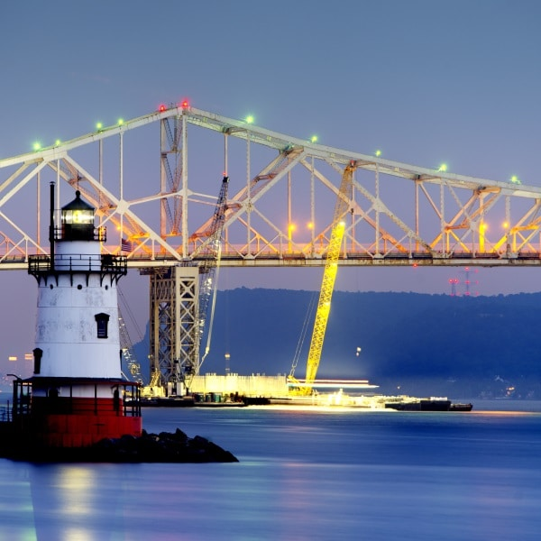 GPS monitoring on Tappan Zee Bridge Construction